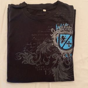 Guess Tee with Blue Shield Logo